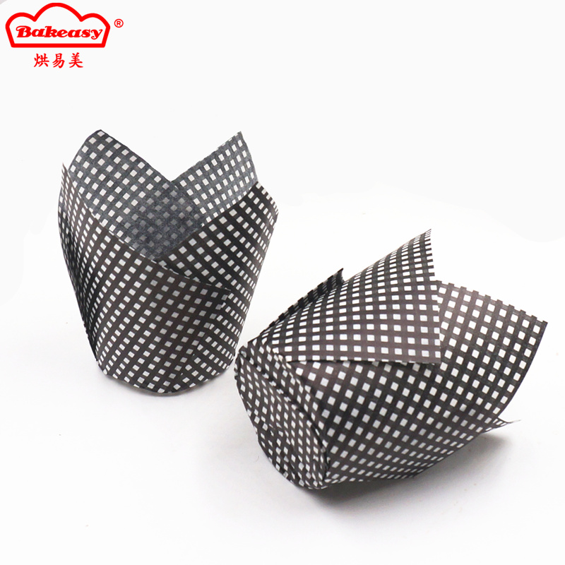 Lattice printing flame cups for baking muffin